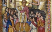 'Coronation of David' in the Paris Psalter. David was a great king, and a greater failure as a father.