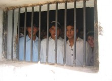 Children imprisoned in the Bannu Jail in Pakistan. According to Wikipedia, the conditions in the jails in Pakistan are deplorable; most of the prisons are more than 100 years old.